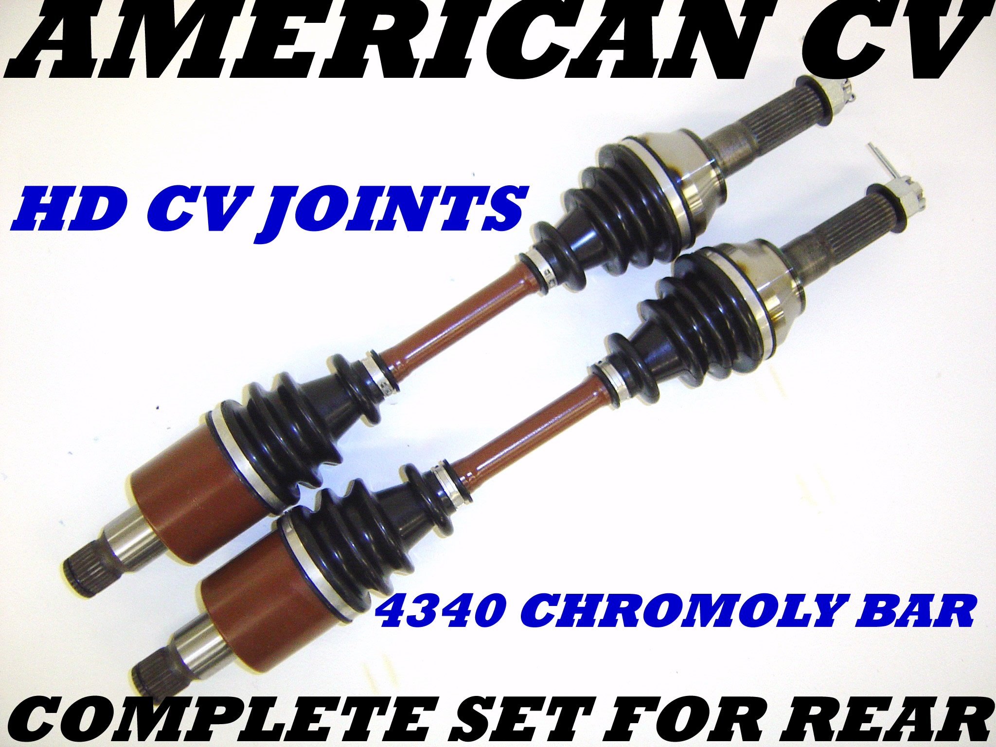 2009-10 POLARIS RZR 800 REAR HD ATV UTV CV AXLE SET
