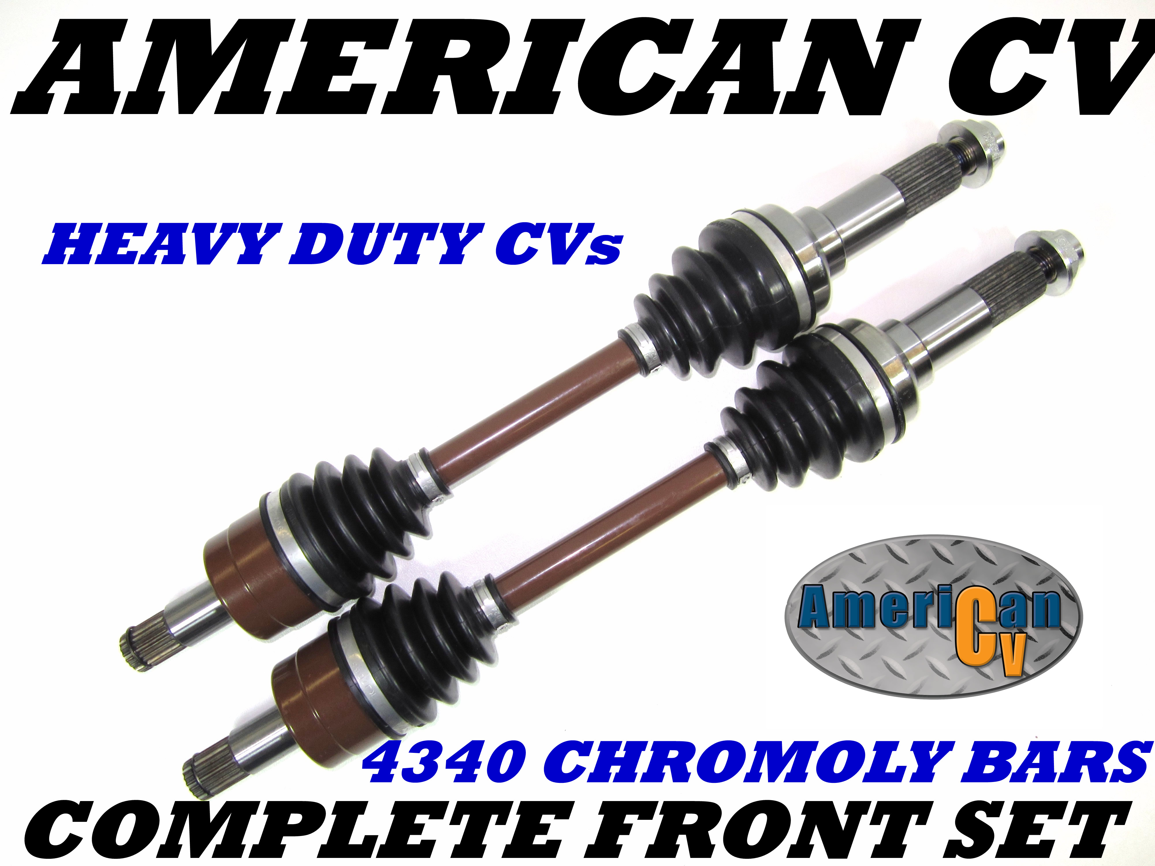Yamaha Grizzly  Bruin 350  400 front atv axles set 2004 2005 2006 2007 08-11